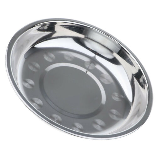 Stainless Steel Round Plate BBQ Grill Meat Dish Plate Fruit Tray Tableware