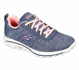 Skechers Womens GO GOLF Walk Sport Golf Shoes 17008 Navy/Pink - New 2021