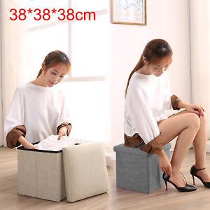 38x38cm-Single-Ottoman-Pouffe-Foot-Stool-Padded-Seat-Cube-Soft-Portable-Bench