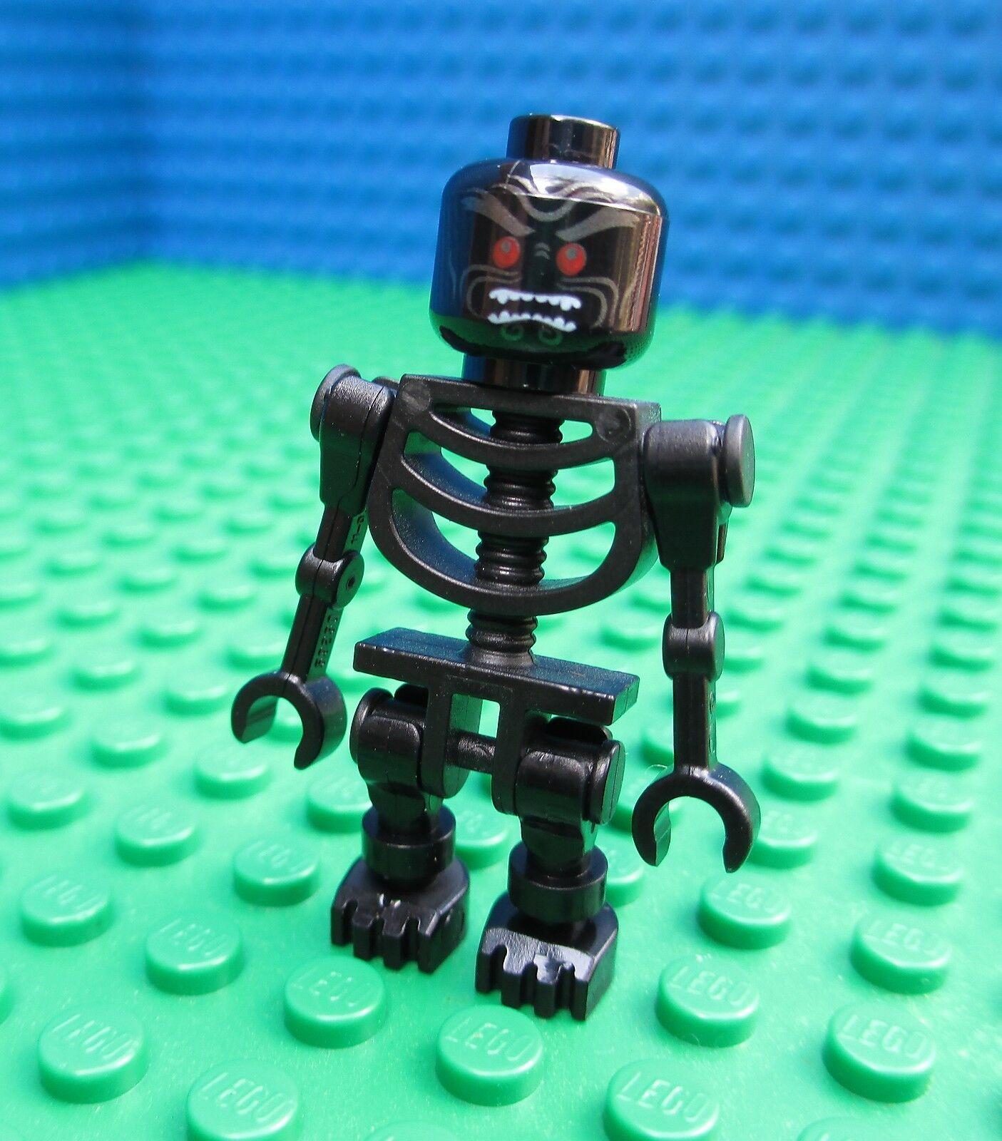 Lego Castle Black Skeleton with Angry Head Minifigure Minifig Kingdoms Ninjago