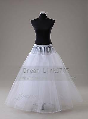 3 Layer A Line Hoopless Wedding Dress Bridal Petticoat Full Slips Underskirt Ebay