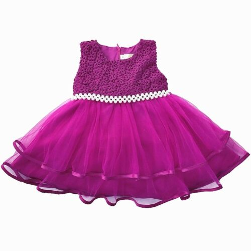 Baby Flower Girl Party Wedding Birthday Baptism Christening Formal Tutu Dress