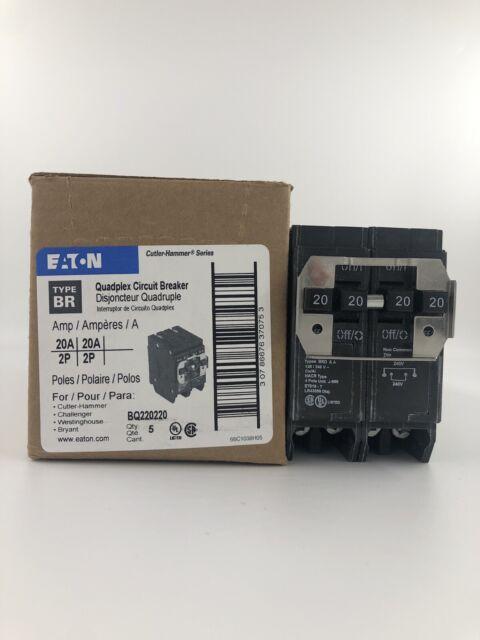 Type BQC 1-inch CTL Plug-On Cutler-Hammer Eaton BQC215215 Circuit Breaker