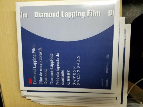 3M 661X  5111169773 Diamond Lapping Film 661X 8 IN 1mic 3mil  25 Discs