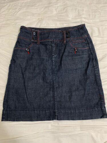 Anthropologie Dark wash Denim Skirt by Bica Cheia