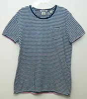 Scotch & Soda Amsterdam Couture Mens Casual T- Shirt Blue / White Xxl $59