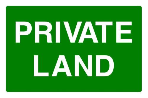 Terres privées Correx Signal De Sécurité 300 mm x 200 mm x 6 mm vert