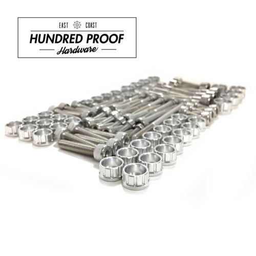 Silver HUNDRED PROOF HARDWARE B Series Engine Bolt Kit B16a B18c B20 LS GSR