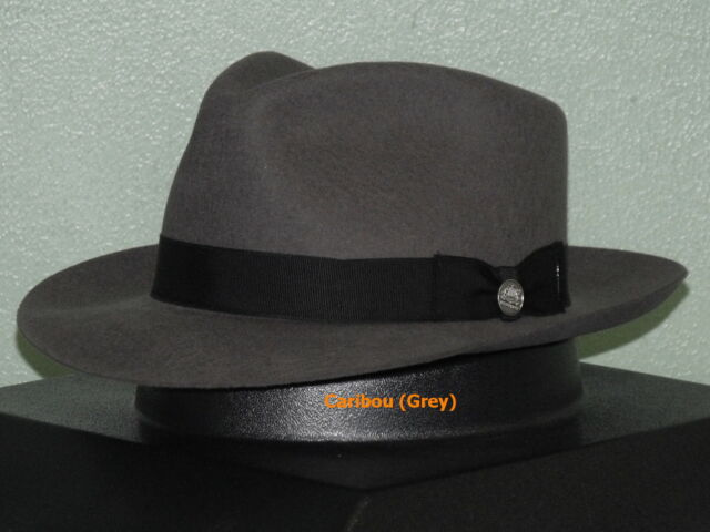 47b1e3e9391f12 Stetson Chatham Wool Fedora Hat Caribou (grey) 7 1/8 for sale online ...