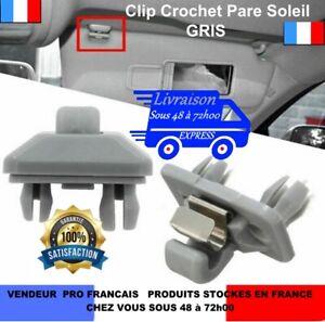 Clip crochet pare soleil Audi A1 A3  A4  A5  Q3 Q5 TT 8U0857562A GRIS  Ref: X012