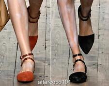 VIVIENNE WESTWOOD Leather Cutout Flats Shoes UK4 IT37, RRP425GBP