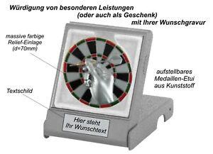 Reliefmotiv DARTS in Etui-Aufsteller als Geschenk/Ehrung mit Gravur 5,99 EUR