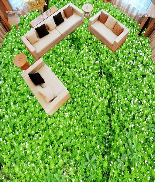 3D Grün Lush Grassland Floor WallPaper Murals Wall Print Decal 5D AJ WALLPAPER