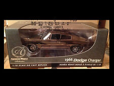 1966 Dodge Charger BLACK CHROME chase car 1:18 Ertl American Muscle 33933