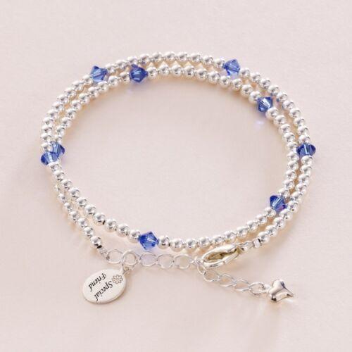 Freundschaft Armband mit Gravur Tag Damen Mädchen Geburtsstein Wickelarmband
