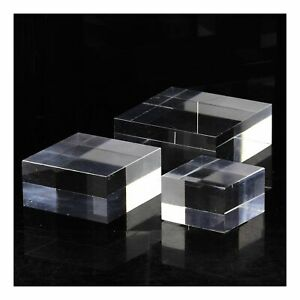Base Display Stand Acrylic Holder For Minéraux. 5 Pieces 30 x 30 x 0 25/32in