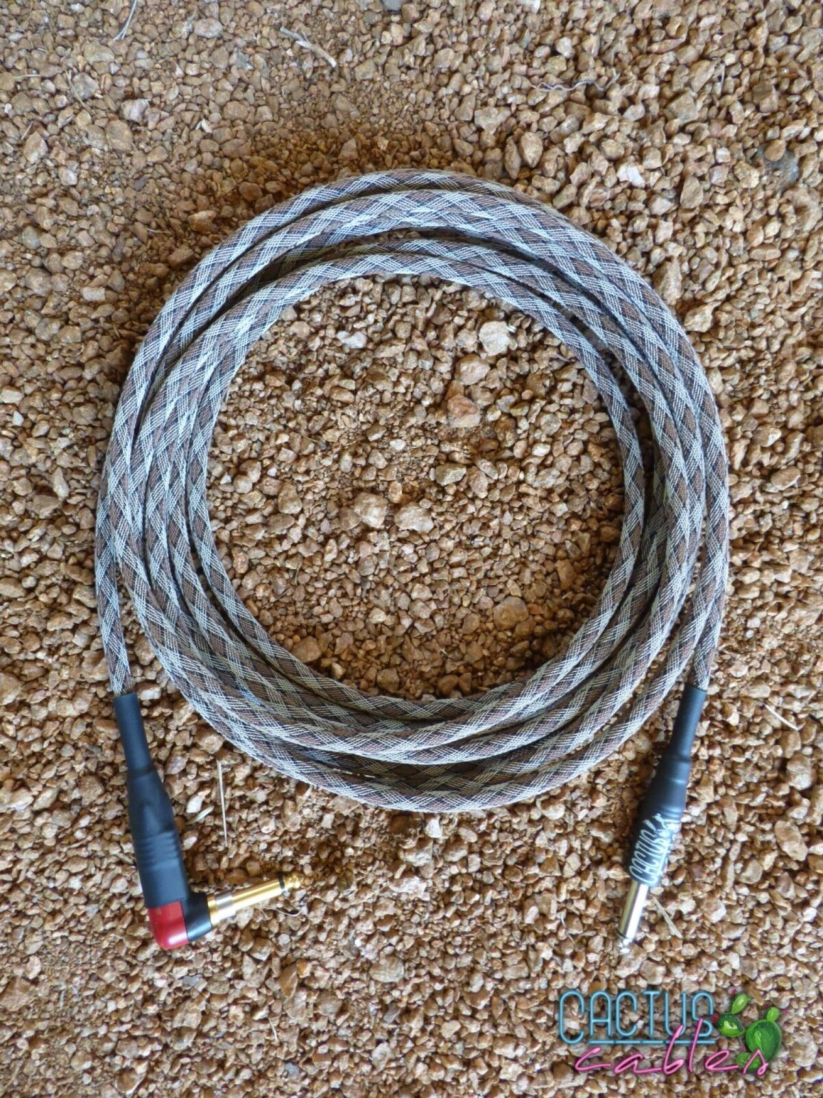 20ft Instrument Cable Made-In-USA - Snakeskin - New - R A Neutrik Silent Plug