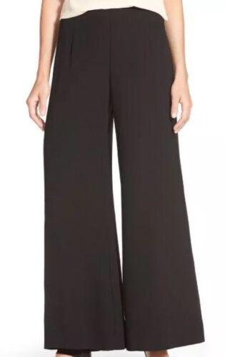 Fisher larga georgette Pantalone seta a di nera gamba Eileen Nwt in 12 258 wqSTZt