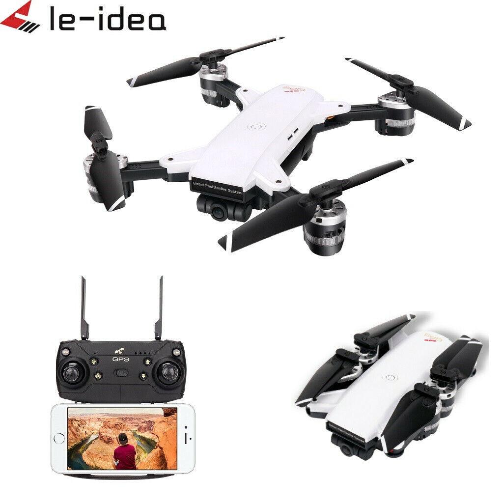 Le-idea IDEA10 RC Drone GPS WiFi FPV 1080P Wide-Angle Camera Quadcopter Hover UK
