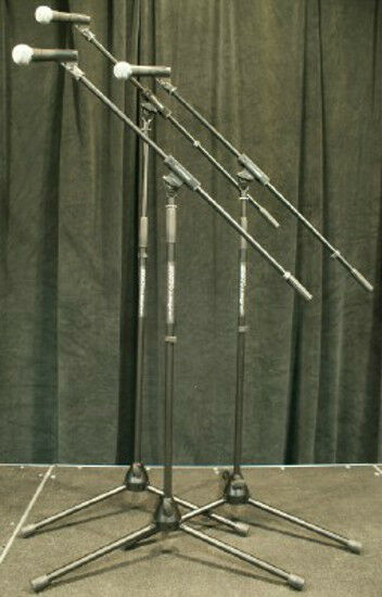 3pk Shure SM58-LC Microphones w  Ultimate Mic Stands   SM 58 Free US 48 Shipping