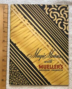 Vintage-1937-Magic-Menus-with-Mueller-039-s-Macaroni-Products-Recipes-Cookbook-RARE