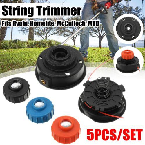 Strimmer Trimmer String Head Line Spool Kit Set For Ryobi Homelite McCulloch MTD