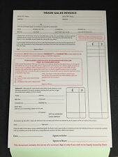 USED CAR/VEHICLE INVOICE PAD/TRADE SALE
