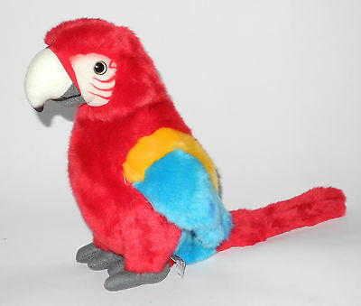 Uni-Toys Neuware Papagei Ara rot 26cm groß