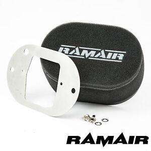 RAMAIR Carb Luftfilter mit Grundplatte Weber 32/34 Dft 25mm Bolzen Auf