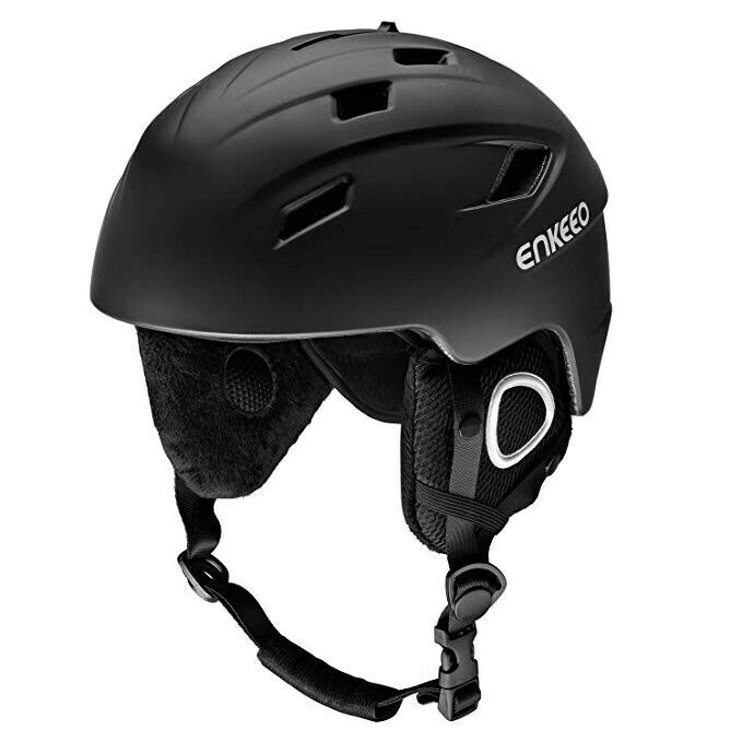 ENKEEO Ski Helmet 2-in-1 Snow Sports with Removable Lining and Earmuffs,..