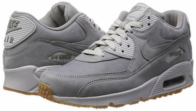 Nike Men's Air Max 90 Winter Premium Medium Grey Neutral Grey Gum 683282 005