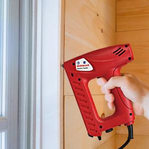 Electric Staple Gun Kit 2-in-1 Brad Nailer Tacker 20 pcs//m Upholstery Carpentry