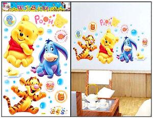 Details zu Winnie Pooh Wandtattoo Wandsticker Wandaufkleber Kinderzimmer  Disney Baby Puh .