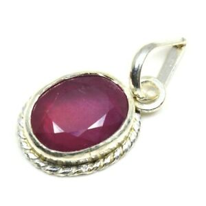 Natural-Ruby-925-Sterling-Silver-5-Carat-Red-Jewelry-Pendant-Charm-Necklace
