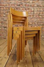 4x Danish Modern Design Stapelstuhl Stuhl Set Fritz Hansen Denmark Vintage 60er