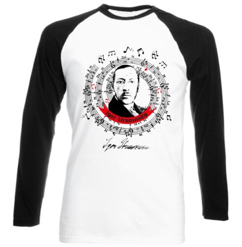 Igor Stravinsky Firma-NEUF noir à manches Baseball Coton T-Shirt