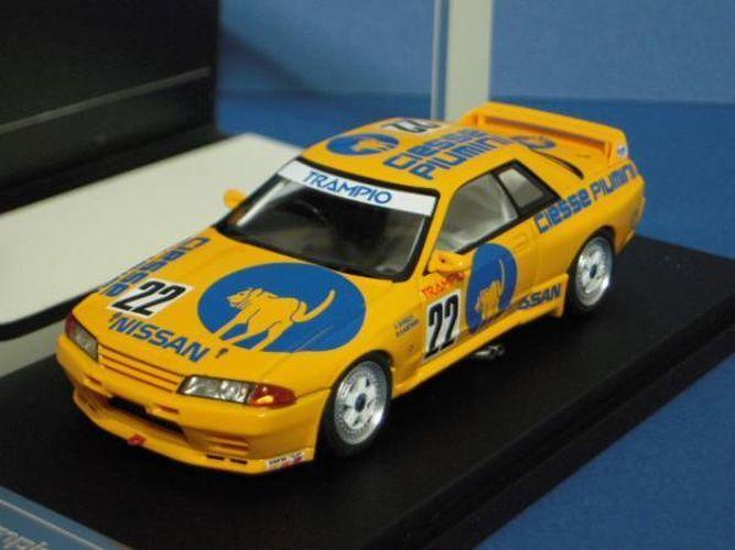 Hpi-racing 1 43 Piumini Trampio Skyline 1990 JTC Yellow K.Shimizu M.Kageyama