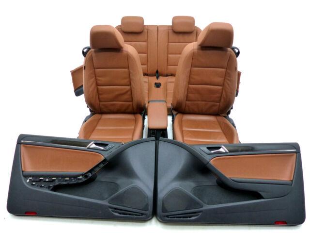 VW Golf VI 6 Cabrio Lederausstattung Ledersitze Leder Sitze Trüffel Braun 👍