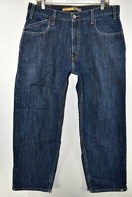 Levi S Silvertab Baggy Jeans Mens Size 36x32 Blue Meas 35x31 Ebay