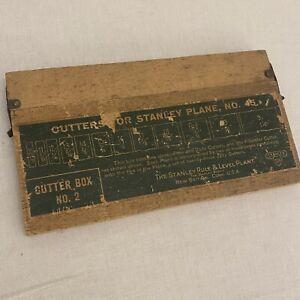 Antique Stanley No. 45 Plane Cutters Original Wood Cutter No. 2 Sweetheart Era