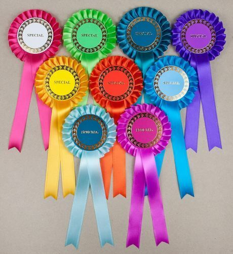 Classic 1-Tier Rosettes 10 Asstd Special//Clear Round//Well Done
