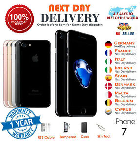 Apple-iPhone-7-32GB-128GB-256GB-tutti-i-colori-Smartphone-Sbloccato-UK-TOP-SELLER