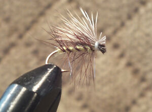 Elk Hare Caddis Olive #14; 1 Dozen Trout Fishing Flies