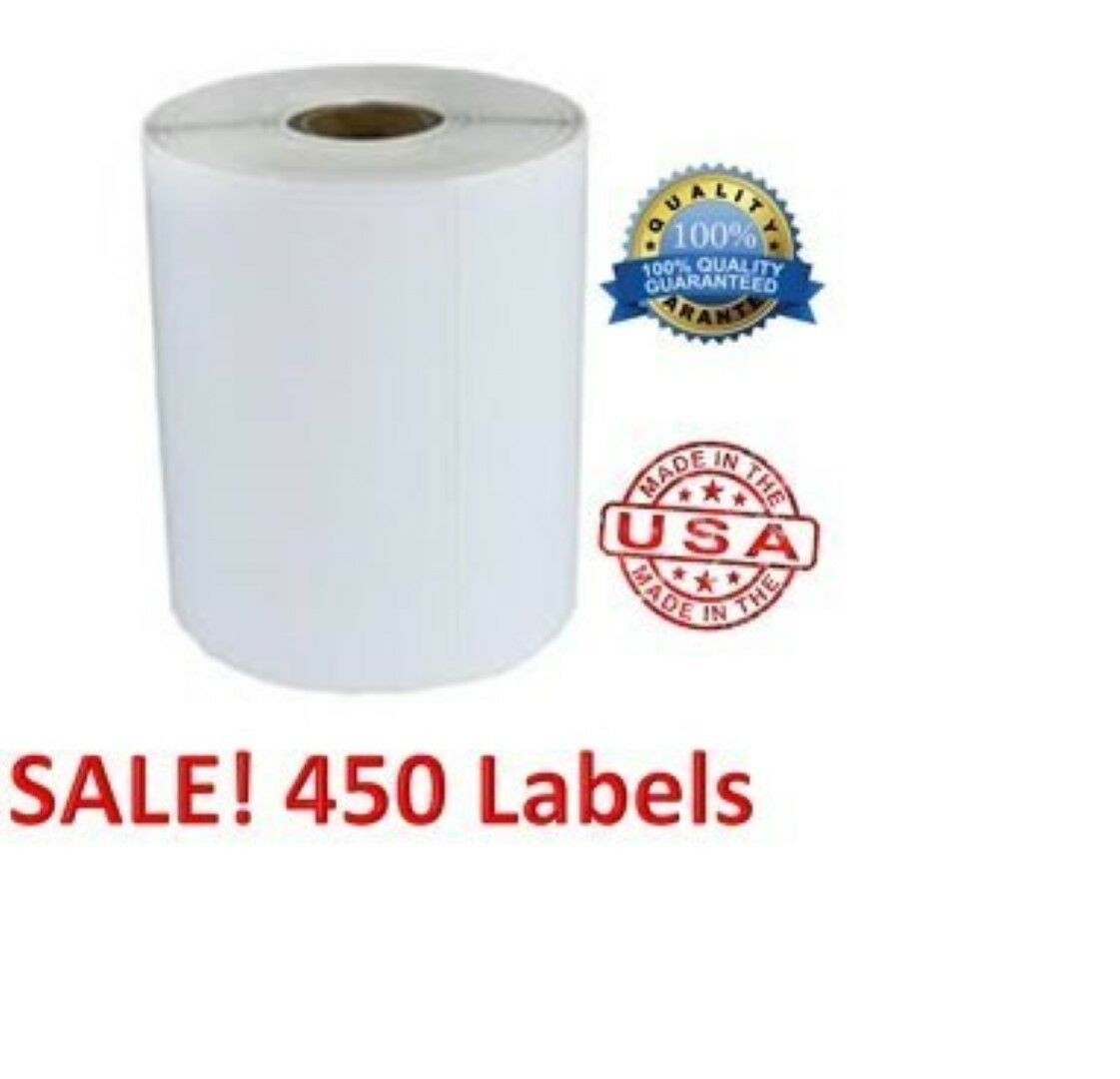 3 Rolls Of 450 Labels Each 4x6 High Quality Direct Thermal 1  Core PPS4-6450DT3