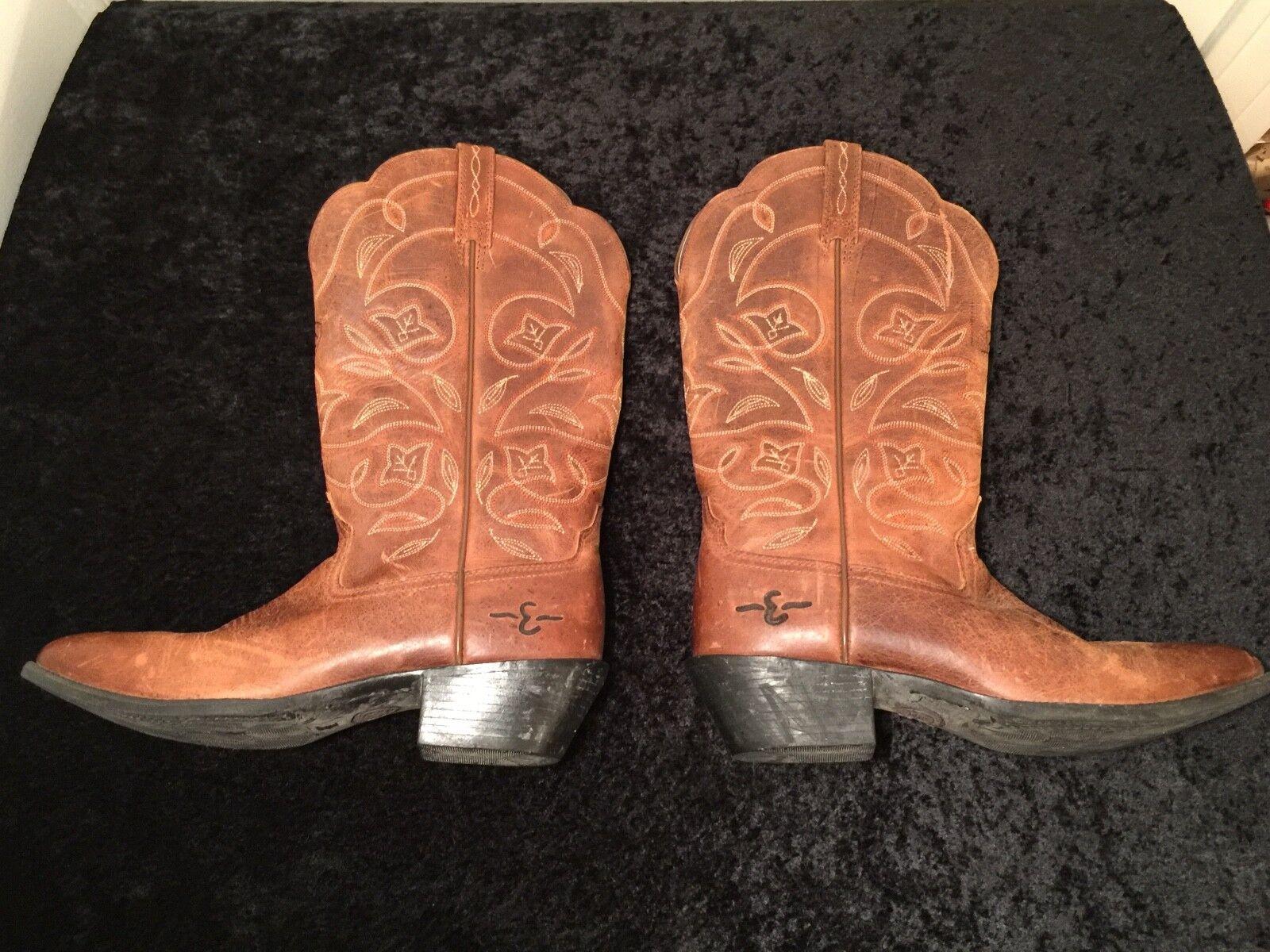ARIAT 15702 Heritage Russet Braun Leder Floral Pattern Cowboy Stiefel Größe 9.5