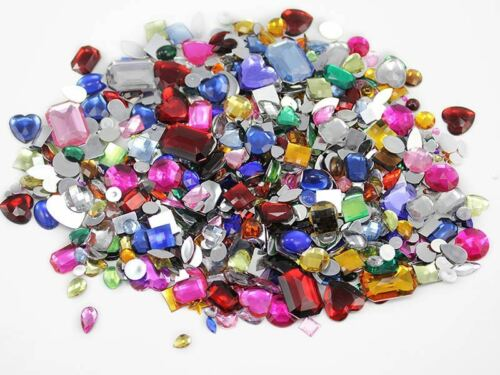 Lifetime Suply of Crafting Flat Back Gems Rhinestones Cabochons Over 10LBS