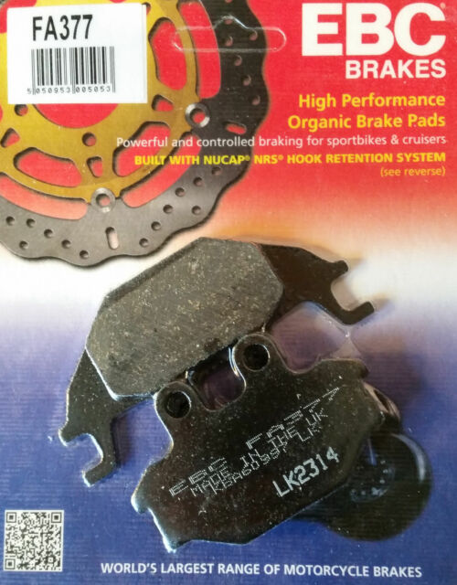 EBC Brake Pads (Rear) - Yamaha MT-125 MT 125 MT-125A 2014 - 2018  - FA377