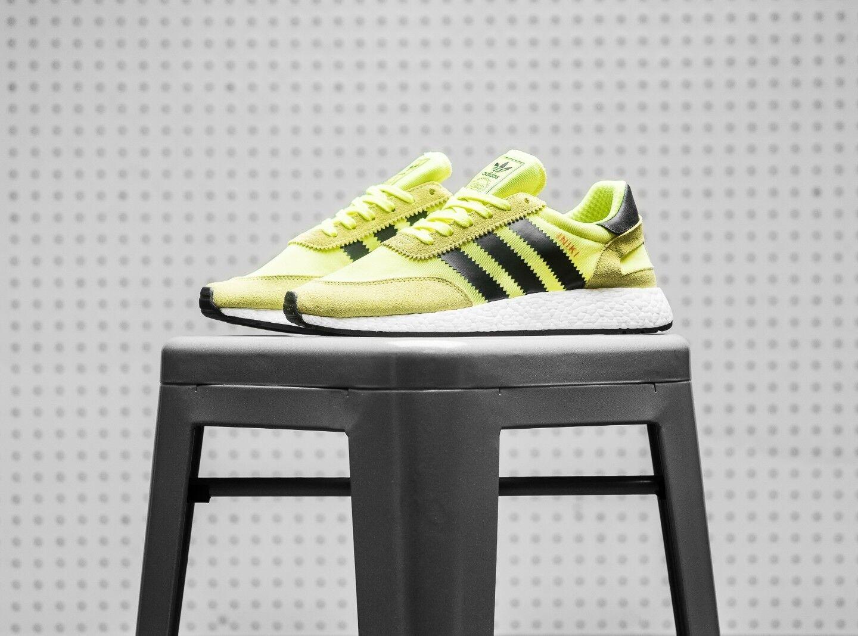 Adidas Iniki Solar Yellow/Black BB2094 Mens Sz 7.5