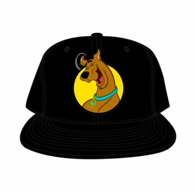 eef41bb3f Scooby-Doo Black Snapback Cap Baseball Cap - One Size Retro Cartoons