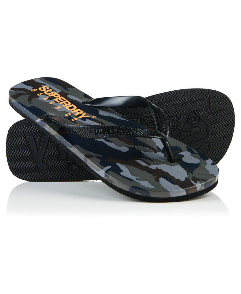 New Hombre Superdry Sleek Classic Flip Flops Classic Sleek Camo 0d0cb1